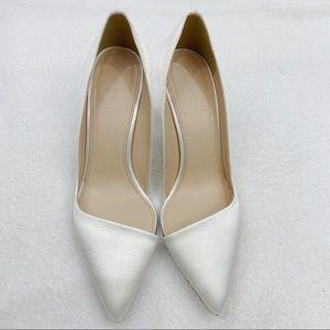 J. Crew white heels